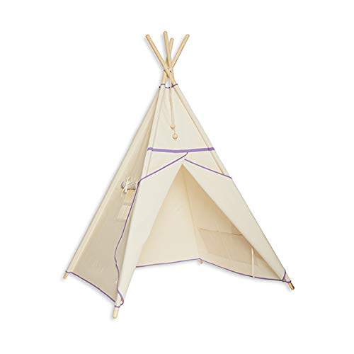 Fun with Mum TEE-TEN-NAT-LIL Tipi tent - Natural Lila