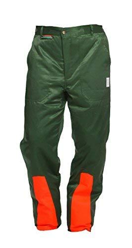 Schnittschutzhose Klasse 1, Forsthose WOODSafe®, kwf-geprüft, Bundhose grün/orange, Herren - Waldarbeiterhose mit Schnittschutz Form A, leichtes Gewicht (50)