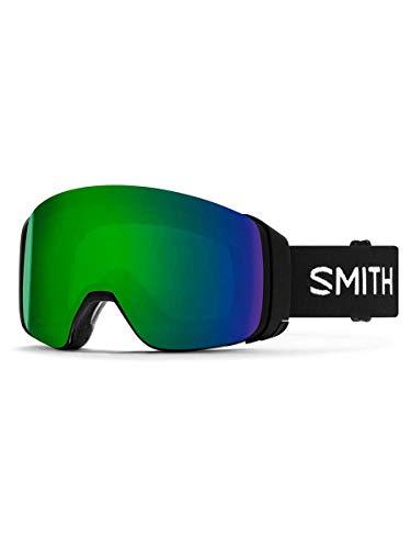 Smith Optics 4D Mag Adult Snowmobile Goggles - Black/Chromapop Sun Green Mirror/One Size