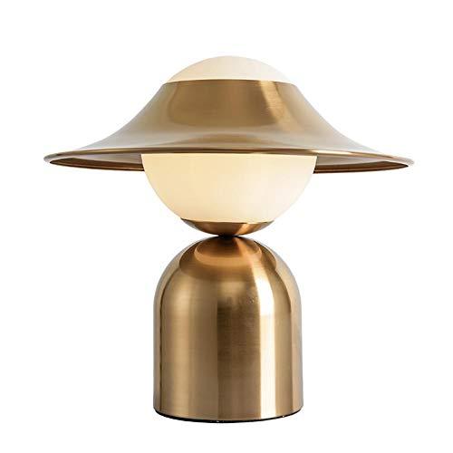 Creativo Sombrero Moderno Led,G9 Nórdico Lujo Ligero Chica Lámpara Escritorio,Personalidad Minimalista Lámpara De Mesa,Salón Dormitorio Oficina-Bronce dorado 32x37cm