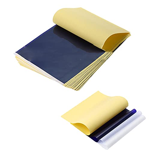 10 hojas de papel de tatuaje, juego de papel de matriz de tatuaje de carbono de tamaño A4, sin tinta de transferencia, papel de copia, plantilla de papel de calco, para máquina de impresora de tatuaje