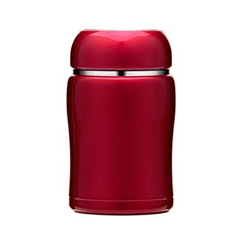 Creative mini tasse Mesdames portable petite tasse mignon vide en acier inoxydable accompagner adulte petite tasse (Color : Cherry red)