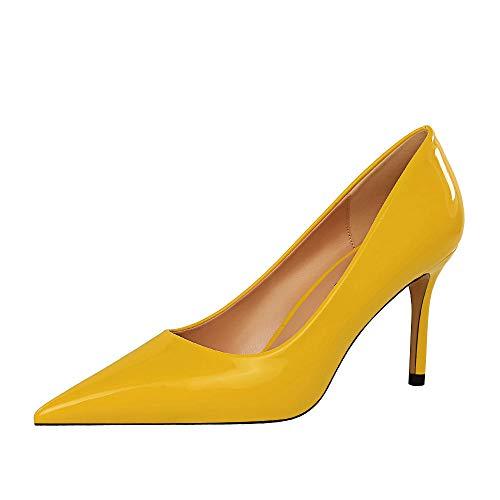 Luckycat Zapatos de tac/ón con Punta Abierta para Mujer Zapatos de Tac/ón de Aguja Puntiagudo Punta Cerrada Dise/ño Elegante Modo para Fiesta y Boda para Mujer