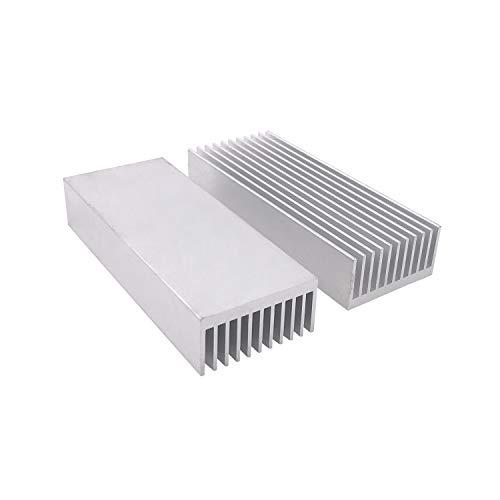 Awxlumv 2 Pcs Aluminum Chipset Heatsink 100 x 40 x 20MM/ 3.93 x 1.57x 0.79 inch Diffusion Cooling Fin Comb Heat Sink Cooler
