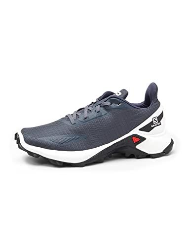 Salomon Alphacross Blast Mujer Zapatos de trail running, Azul (India Ink/White/Black), 40 2/3 EU