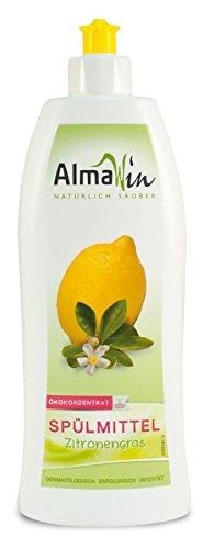 AlmaWin wasmiddel citroengras veganistisch, Eco Garantie, verpakking van 3 stuks (3 x 500 ml)