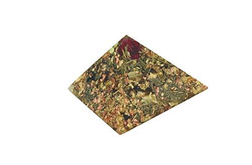 budawi® - Orgonit Pyramide, Edelstein Pyramide aus Edelsteinen und Metallen