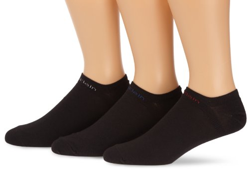 Calvin Klein Socks Herren Sneakersocken ECL376,  3er Pack, BLACK, 40/46