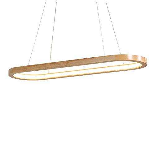 LED hanglamp ring van hout modern in hoogte verstelbaar hanglamp woonkamer eettafel keuken eetkamer hanglamp plafondlamp binnenverlichting decoratie
