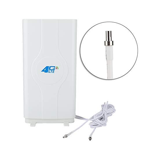 Mavis Laven 4G LTE Antenne TS9 / CRC9 / SMA Antenne 88DBi High Gain Mimo Innenverstärker Antennenanschluss 800MHz bis 2600MHz für ZTE-, Huawei-, Vodafone- und Netgear-Anpassungsmodelle(TS9)