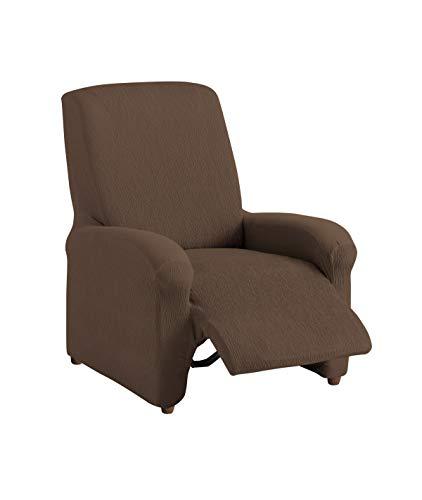 Textil-home Stretchhusse für Relaxsessel Komplett TEIDE, 1 Sitzer - 70 a 100Cm. Farbe Braun