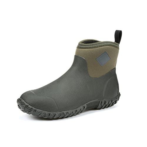 Muckster ll Ankle-Height Men's Rubber Garden Boots,Moss/Green,7 M US