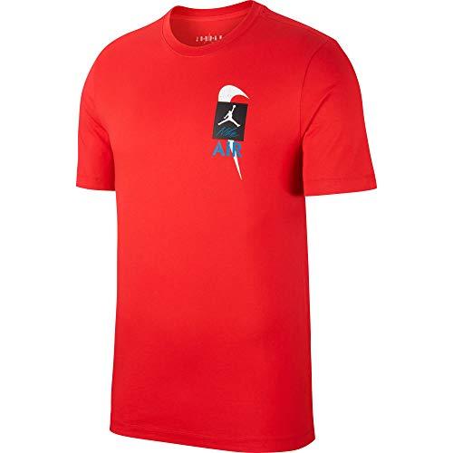 NIKE M J Lgc Aj4 SS tee 1 Camiseta de Manga Corta, Hombre, University Red, L