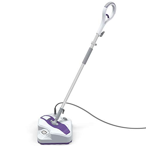 LIGHT 'N' EASY Mop, Powerful Floor Steamer Cleaner Mopper with Electronic Steam Control for Hardfloor, Laminate, Tile, Grout and Carpet, 7338ANW (White Violet)