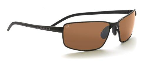 Serengeti Lizzano Sonnenbrille, Farbe Linse Polarized Drivers, Objektiv-Kategorie 3, Schwarz
