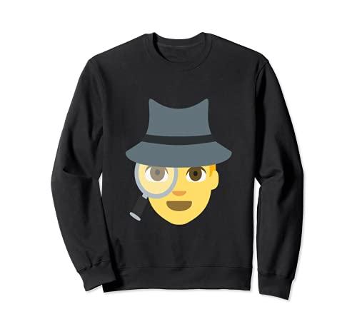 Emoji Spy Sleuth süße Detektivinspektor Lupe Sweatshirt