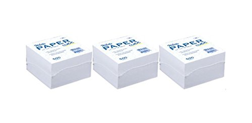 White Memo Paper Cube, 500 Paper Notes Per Pack. - Handy on Desk When You Need a Quick Note. (3-pack)