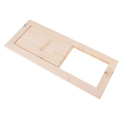 B Blesiya Sauna Lüftungsklappe Lüftungsschieber Abluftschieber, aus Holz