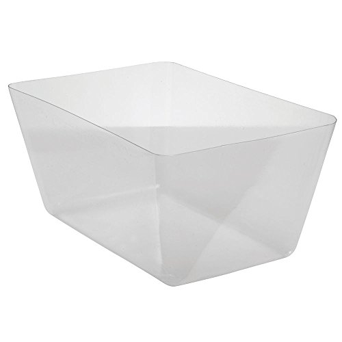 "Basket Liner Rectangular Clear PETG Plastic- 18""L x 12""W x 8""H"