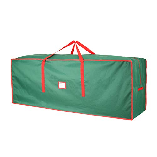 """Christmas Tree Storage Bag,Heavy Duty 600D Oxford Xmas Holiday Extra Large Container up to 9"""" Artificial Disassembled Trees,65"""" x 23"""" x 23"""",Green"""