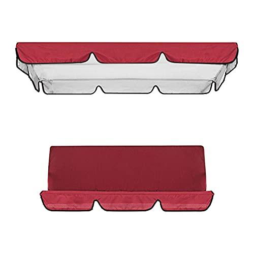 Cubierta impermeable para columpio, toldo y silla de jardín, protección solar (rojo)