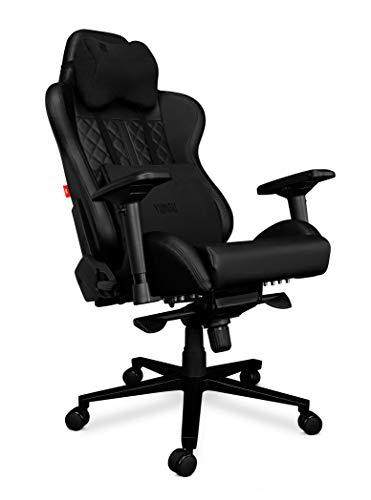 YUMISU 2050 Gaming Chair - Nero - Costruzione in Alluminio Rinforzato con meccanismo Ergomultiblock. Design Minimalista e Un Comodo Cuscino Ishin Cushion Ti garantiscono Una Seduta Confortevole!