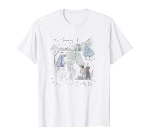 Disney Frozen 2 Sketched Watercolor Poster T-Shirt