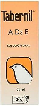 DIVASA Tabernil A, D3, E Solution orale pour Oiseaux,20ML