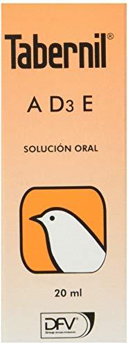 DIVASA Tabernil A, D3, E Solution orale pour Oiseaux, 20 ML