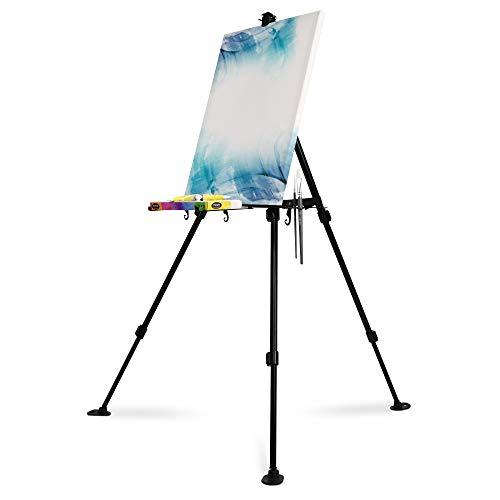 Artina Cavalletto in alluminio Paris 165cm - Cavalletto da tavolo e da campo per dipingere - Per tele di diverse grandezze - Cavalletto per pittura portatile e stabile