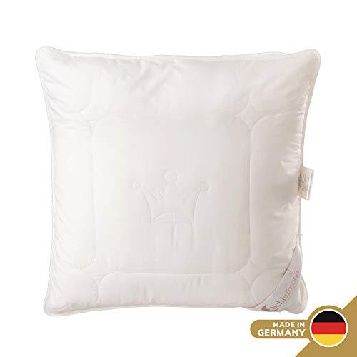 Schlafmond Der Kleine Prinz Naturfaser Kopfkissen 80 x 80 cm, Kissen mit anpassbarer Füllmenge, Baumwolle Schurwolle Kapok, bis 60 Grad waschbar, Made in Germany