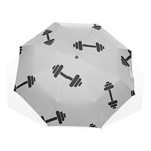 Beste Regenschirm Fitness Hantel Übung 3 Falten Kunst Regenschirme (außerhalb Druck Qualität Reiseschirm Große Regenschirme für Regen Winddichte Kinder Sonnenschirm