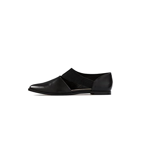 Bourgeois Boheme Women's Vegan Evanna Cut-Out Flat (37 (6 US)) Black