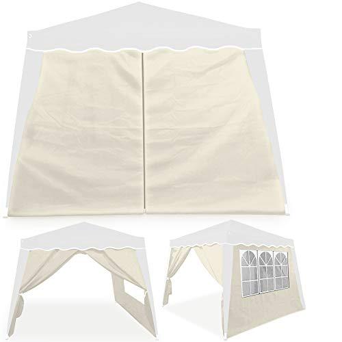 Deuba 2X Seitenwand Pavillon für 3x3m Capri wasserabweisend Faltpavillon Pop Up Partyzelt Pavillonwand Seitenteil Beige
