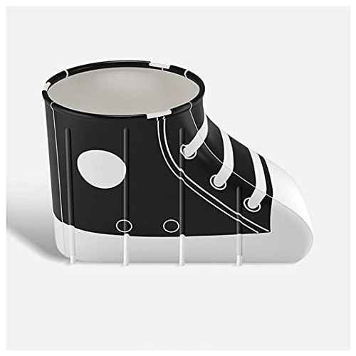 Sits Juego de bañera Plegable, bañera de plástico Plegable y Gruesa Independiente para Adultos, bañera Suave y móvil para SPA de Piscina de inmersión (Color : Negro)