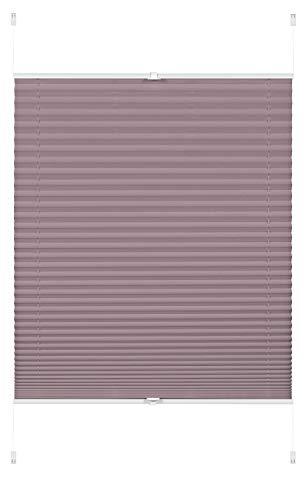 GARDINIA EASYFIX Rideaux Plissées Greta à Fixer par Serrage, Opaques, Kit de Montage Inclus, Gris (Steingrau), 90 x 130 cm (LxH)