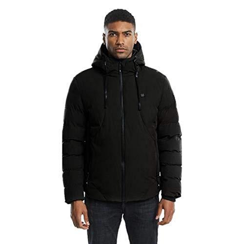 circulor Winterjassen voor mannen, USB heren winterjas, verwarmde katoenen jas, outdoor bergbeklimmen, paardrijden, vissen, verwarmingspak, katoenen jas