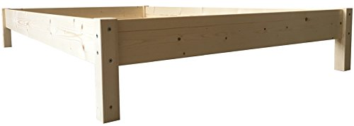 LIEGEWERK Futonbett Bett Holz Holzbett Massivholzbett 90 100 120 140 160 180 200 x 200cm, hergestellt in BRD (120cm x 200cm)