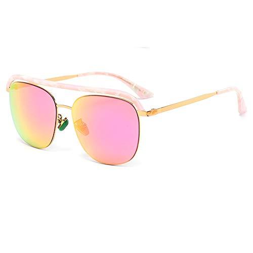SWNN Sunglasses UV400 Marrón Azul Rosa Placa Señoras Moda Tendencia Gafas De Sol con Montura Completa Luz Hecha A Mano (Color : Pink)
