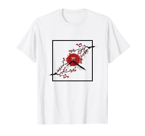 Style Vaporwave de fleur de cerisier asiatique japonais T-Shirt