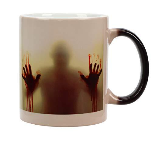 Incutex taza calor taza mágica que cambia de color – zombie