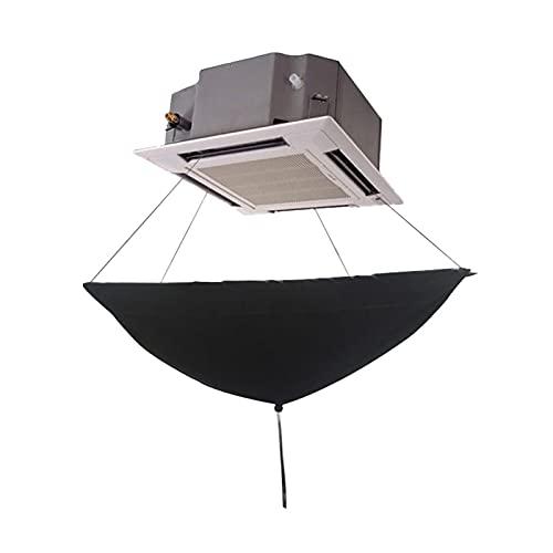 Condizionatore Aria condizionata Pulisci Lavaggio Covers Soffitto Aria condizionata Aria condizionata Riutilizzabile Pulizia Polvere di polvere di polvere copertura dell'acqua ( Color : Zwart )