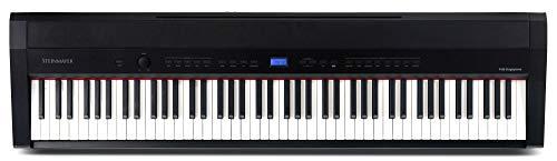Steinmayer P-60 SM Stagepiano (88 Tasten, Hammermechanik, Anschlagdynamik, 128-fach polyphon, 14 Sounds, Aufnahme- & Begleitfunktion, inkl. Notenhalter und Netzteil) schwarz