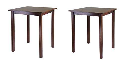 Winsome Wood Parkland Dining, Walnut (Pack of 2)