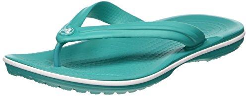 Crocs Crocband Flip, Chanclas Unisex Erwachsener, Blau (Tropical Teal/White), 37-38