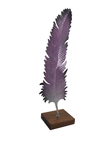 Moycor Plume Tricolore, métal, Lilas, Noir et Marron, 23 x 13 x 65 cm
