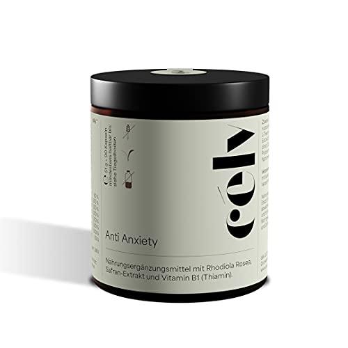 célv Anti Anxiety | Nahrungsergänzungsmittel mit Safran, Rhodiola Rosea, Cordyceps, Grüner Tee Extrakt, Vitamin D3, Vitamin B-Komplex | Made in Germany & vegan | 90 Kapseln