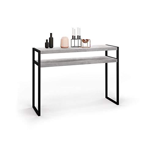 Mobili Fiver, Mesa Consola, Modelo Luxury, Color Cemento, 11