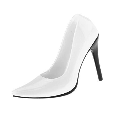 Almencla 1/6 Escala Femenina clsica de Moda Puntiagudos Zapatos de tacn Alto con Bomba de Aguja para 12 Pulgadas HT Kumik Figuras de accin Cuerpo de mueca - Blanco