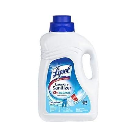 Laundry Sanitizer Additive, Crisp Linen, 90oz, Bacteria-Causing Laundry Odor Eliminator, 0% Bleach Laundry Sanitizer, Multicolor